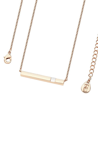Tipperary Crystal Jewellery Necklaces Rose Gold Pendant Pearl Bar June