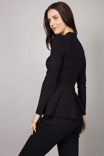 Rowen Avenue Jumpers Peplum Knit in Black