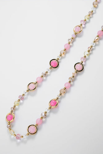 Soul Jewellery Necklaces Gold Pink Bead Necklace