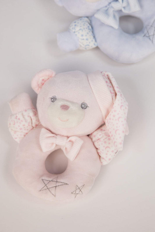 Carraig Donn HOME Rattle Pink Teddy Rattle in Gift Box