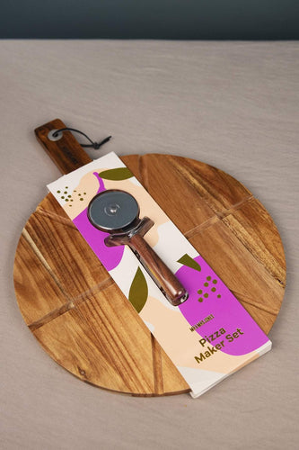 Carraig Donn HOME Cheese Boards Pizza Wheel Board and Knife Set