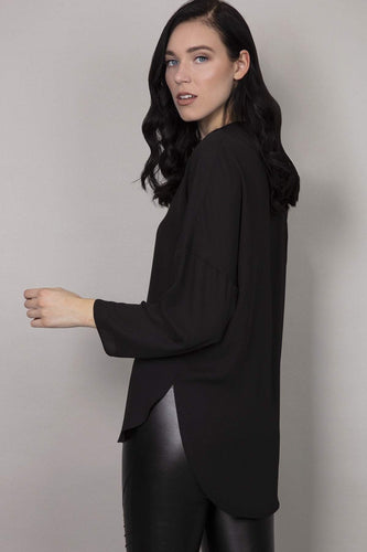 Rowen Avenue Blouses Plain Blouse in Black