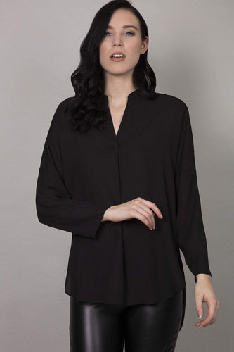 Rowen Avenue Blouses Black / 8 Plain Blouse in Black