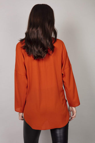 Rowen Avenue Blouses Plain Blouse in Rust