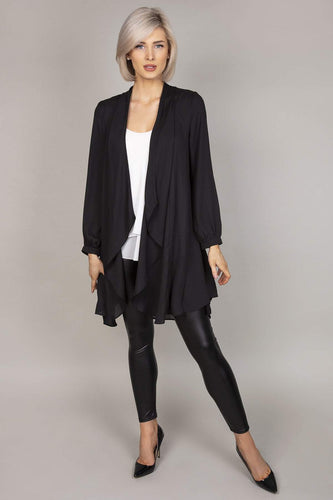 Rowen Avenue Jackets Pleat Back Jacket in Black