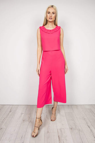 Daisy May Jumpsuits Pink / 10 Pleat Detail Jumpsuit in Hot Pink