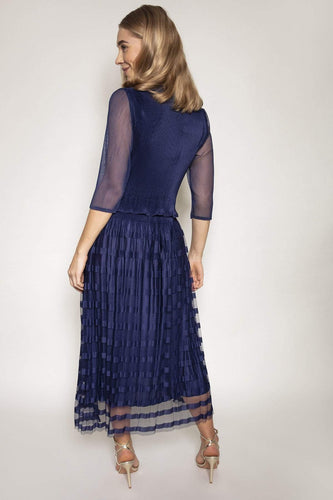 Rowen Avenue Dresses Pleated Dress in Navy