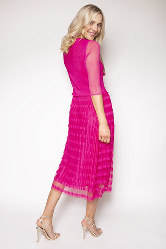 Rowen Avenue Dresses Pleated Dress in Pink