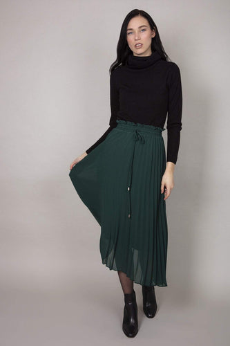 Rowen Avenue Skirts Green / S/M / Midi Pleated Skirt in Green