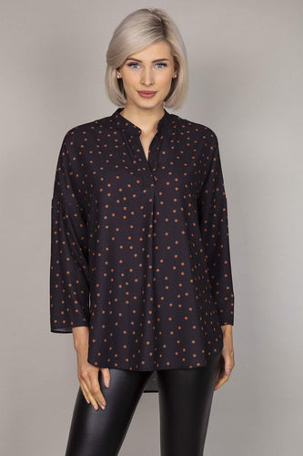 Rowen Avenue Blouses Black / 8 Polka Blouse in Black