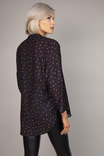 Rowen Avenue Blouses Polka Blouse in Black
