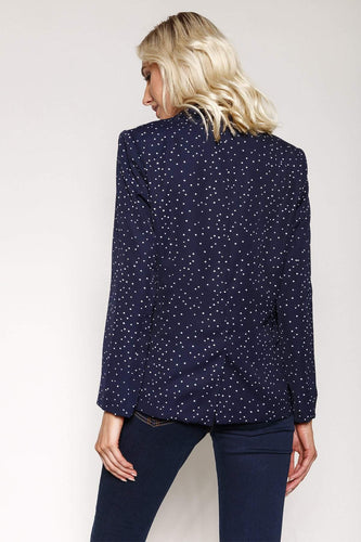 Kelly & Grace Weekend Blazers Polka Dot Blazer in Navy