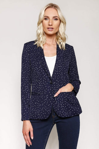 Kelly & Grace Weekend Blazers Navy / S Polka Dot Blazer in Navy