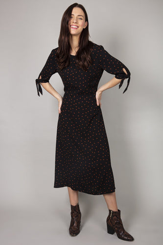 Rowen Avenue Dresses Polka Dress in Black