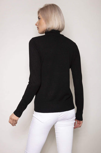 J'aime la Vie Jumpers Polo Knit in Black