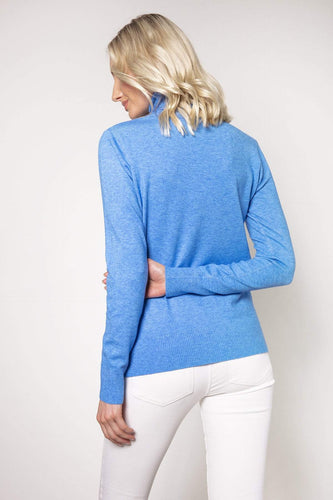 J'aime la Vie Jumpers Polo Knit in Blue