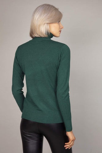 J'aime la Vie Jumpers Polo Knit in Green