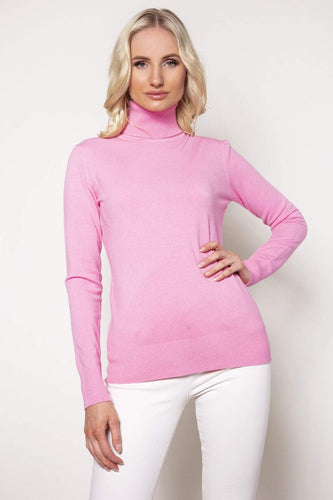 J'aime la Vie Jumpers Pink / S/M Polo Knit in Pink