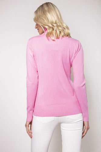J'aime la Vie Jumpers Polo Knit in Pink