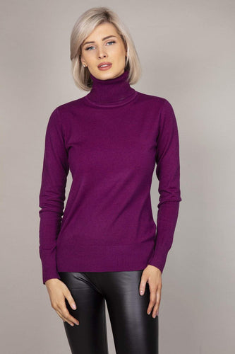 J'aime la Vie Jumpers Purple / S/M Polo Knit in Purple