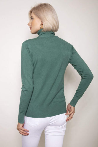 J'aime la Vie Jumpers Polo Knit in Sage