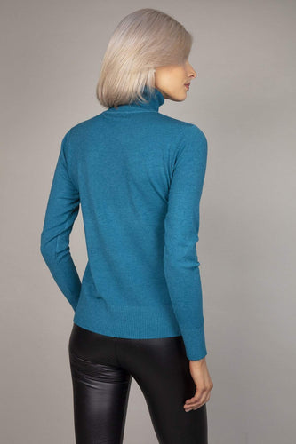 J'aime la Vie Jumpers Polo Knit in Teal