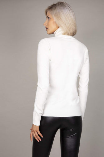 J'aime la Vie Jumpers Polo Knit in White