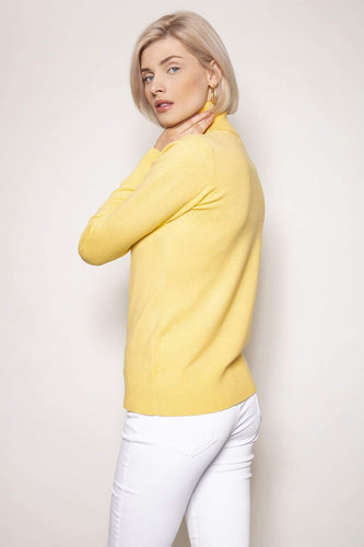 J'aime la Vie Jumpers Polo Knit in Yellow