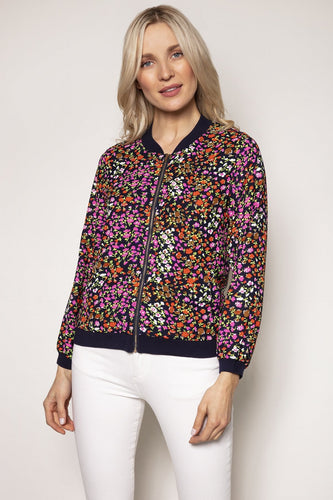 Rowen Avenue Jackets Multi / S Printed Bomber Jacket in Ditzy Print