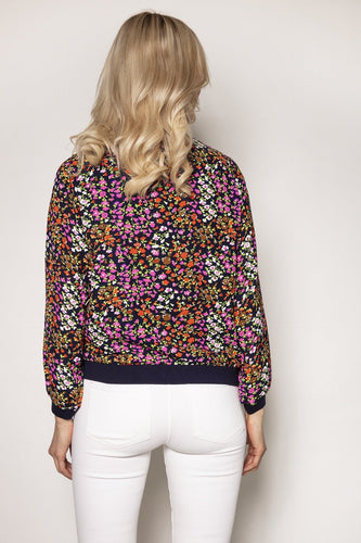 Rowen Avenue Jackets Printed Bomber Jacket in Ditzy Print