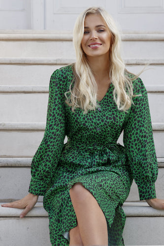 Rowen Avenue Dresses Printed Shirt Dress in Green