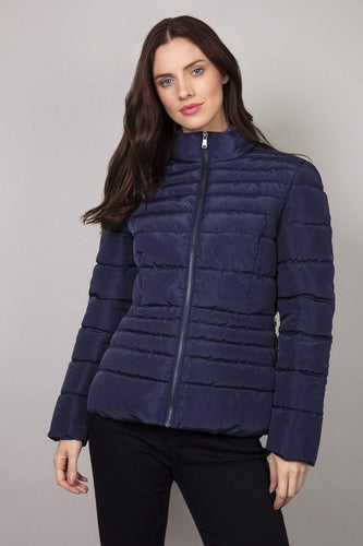 Kelly & Grace Weekend Jackets Navy / 8 Puffa Jacket in Navy