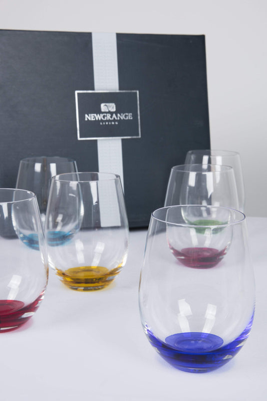 Newgrange Glasses Rainbow Stemless Wine Glasses Party Pack