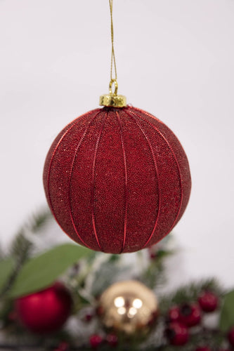 Carraig Donn HOME - Christmas Christmas Tree Decorations Red Baubles Set of 6