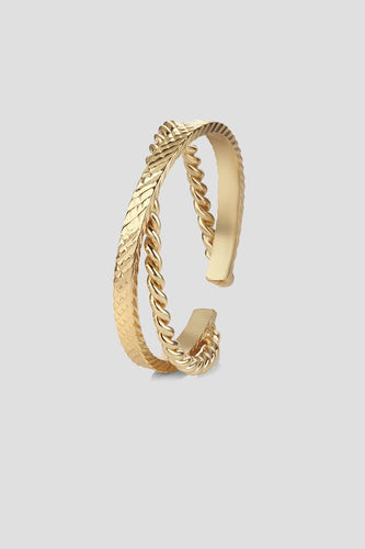 Newbridge Silverware Rings Rope Twist Style Ring in Gold