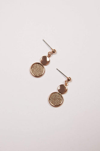 Joularie Earrings Rose Gold Rose Gold Drop Earrings