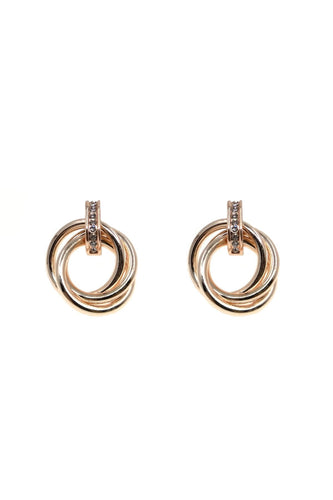 Soul Jewellery Earrings Rose Gold Rose Gold Pleated Earrings - SOUL Special