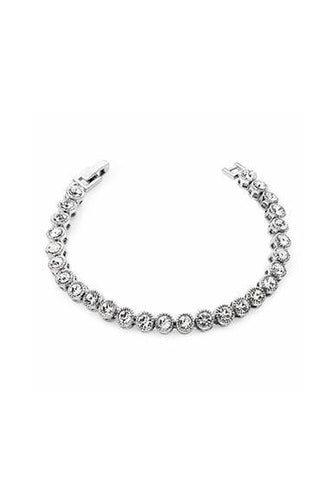 Tipperary Crystal Jewellery Bracelets Silver Round Tennis Bracelet in Silver