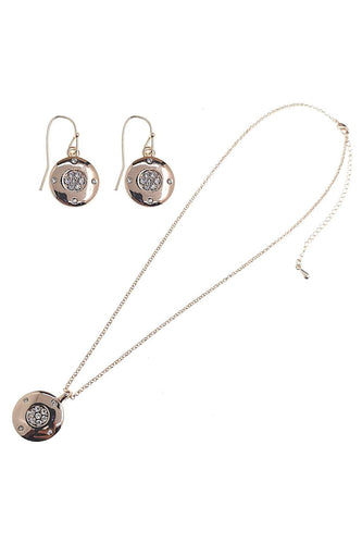 Joularie Jewellery Sets Rose Gold Round with Star Diamante Design Set