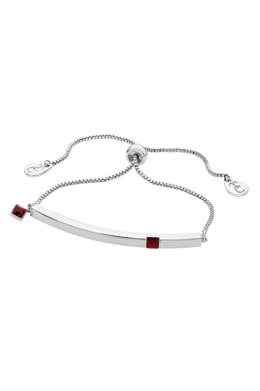 Tipperary Crystal Jewellery Bracelets Silver Ruby Bracelet July