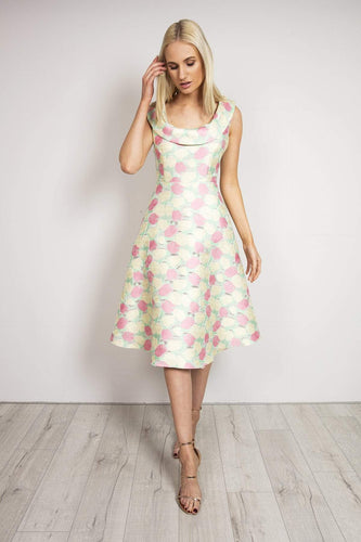Daisy May Dresses Scoop Neckline Dress in Pink
