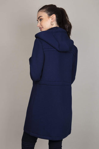 Kelly & Grace Weekend Jackets Scuba Coat in Navy