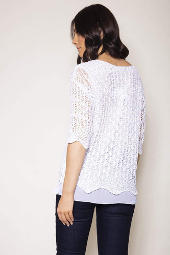 Voulez Vous Jumpers Sequence Knit Top in Ivory