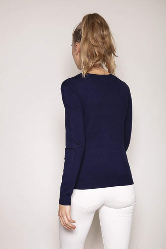 Kelly & Grace Weekend Jumpers Sequin Knit in Navy