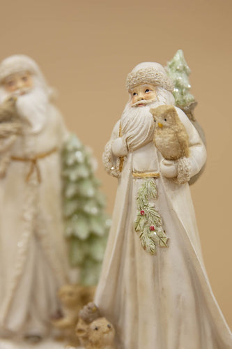 Carraig Donn HOME Christmas Ornaments Set of 2 Decadent Santa