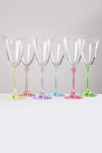 Galway Crystal Glasses Set of 6 Liberty Goblets