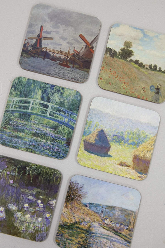 Tipperary Crystal Gift Kitchen accessories Set of 6 Monet Coasters