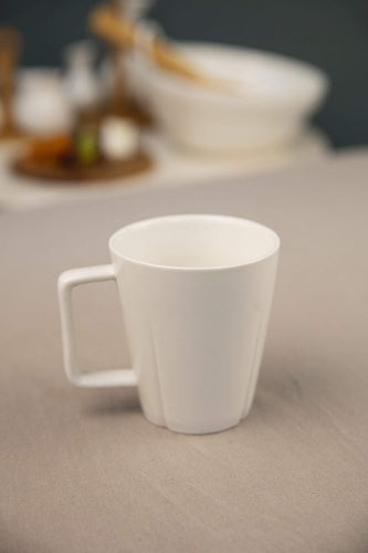 Carraig Donn HOME Mugs Set of 6 White Mugs