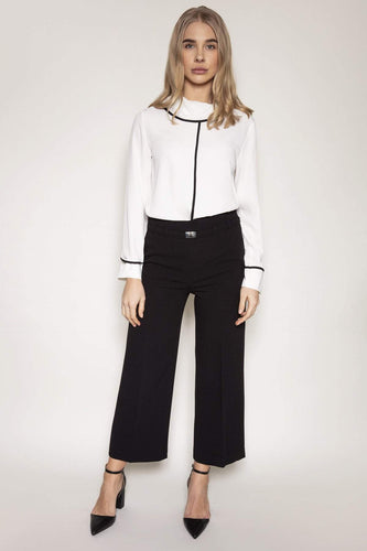 Peruzzi Trousers Side Seam Trousers in Black