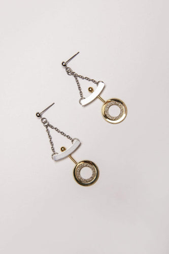 Joularie Earrings Multi Silver and Gold Glitter Earrings